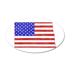 North Dakota Flag 35x21 Oval Wall Decal