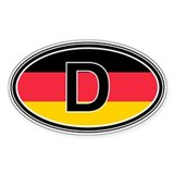 Germany Euro Oval Bumper Stickers