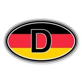 Germany Euro Oval Décalcomanies