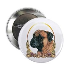 "Bullmastiff Christmas/Holiday 2.25"" Button (10 pac"