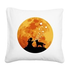 Australian-Cattle-Dog22 Square Canvas Pillow