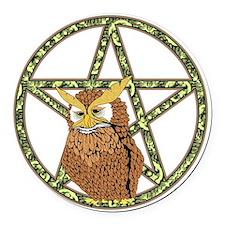penta owl12 Round Car Magnet