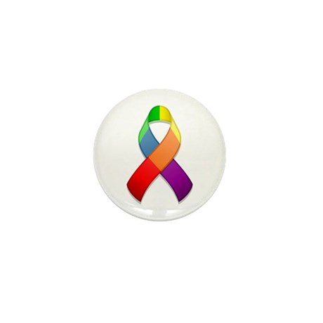 Rainbow Pride II Ribbon Mini Button (10 pack)