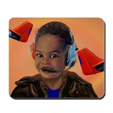 BabyAviator Red Tail Mousepad