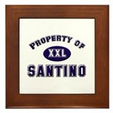 Property of santino Framed Tile