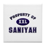 Property of saniyah Tile Coaster