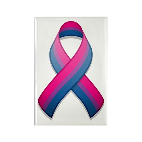 Bi Pride Ribbon Rectangle Magnet (100 pack)