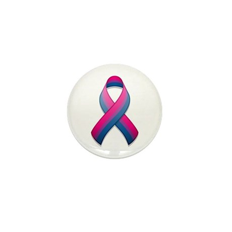 Bi Pride Ribbon Mini Button (100 pack)