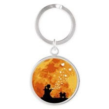 Chihuahua-Longhaired22 Round Keychain