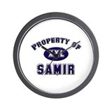 Property of samir Wall Clock