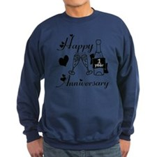 Anniversary black and white 1 co Sweatshirt
