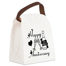 Anniversary black and white 20 Canvas Lunch Bag