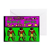 Mardi Gras Egyptians Greeting Cards (Pk of 10)
