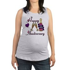 Anniversary pink and purple 10 Maternity Tank Top