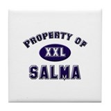 Property of salma Tile Coaster