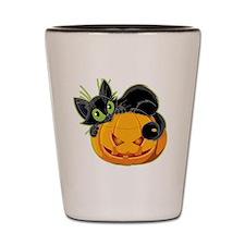 Pumpkin Cat Shot Glass