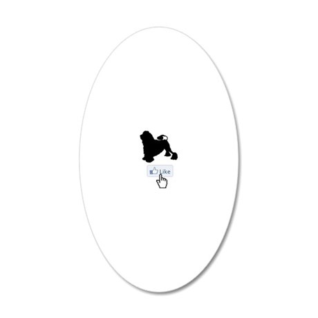 Lowchen20 20x12 Oval Wall Decal