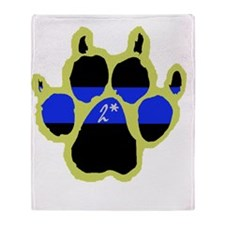 Yellow Paw  2Ass (Paw Enforcement- d Throw Blanket