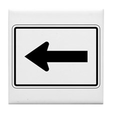 Directional Arrow Left - USA Tile Coaster