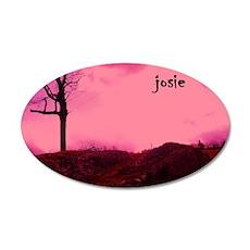 Josie 35x21 Oval Wall Decal