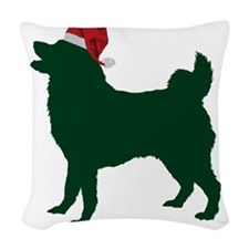 Norwegian-Elkhound23 Woven Throw Pillow