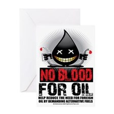 No-Blood-For-Oil Greeting Card