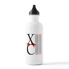 XC Run Red Black Water Bottle