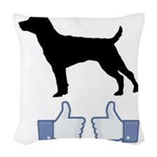 Patterdale-Terrier07 Woven Throw Pillow