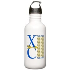 XC Run Blue Gold Water Bottle