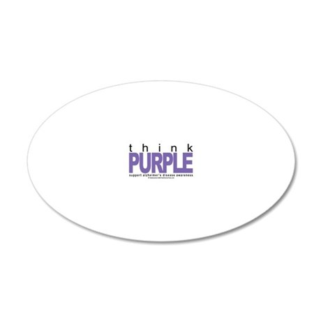 Alzheimers-THINK-Purple 20x12 Oval Wall Decal