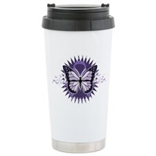 AlzheimersTribal-Butterfly-2009 Ceramic Travel Mug