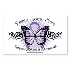AlzheimersTribal-Butterfly-200 Decal