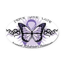 AlzheimersTribal-Butterfly-2009 Oval Car Magnet