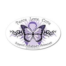 AlzheimersTribal-Butterfly-2 35x21 Oval Wall Decal