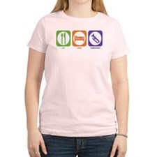 Eat Sleep Euphonium Women's Pink T-Shirt