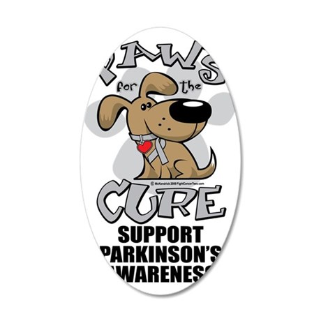 Paws-for-the-Cure-Parkinsons 35x21 Oval Wall Decal