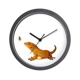 Crested Gecko & Cricket Wall Clock