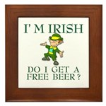 Free Beer? Framed Tile