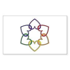 Poly Logo Rectangle Decal
