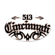 Cincinnati 513 Oval Car Magnet