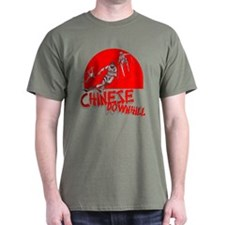 Chinese Downhill Military Green T-Shirt