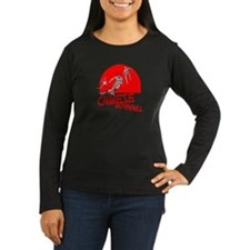 Chinese Downhill Women's Long Sleeve Black T-Shirt