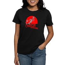 Chinese Downhill Women's Black T-Shirt