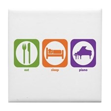 Eat Sleep Piano Tile Coaster