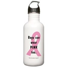 boys-can-wear-pink-too Water Bottle