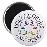 "Poly and Proud circle logo 2.25"" Magnet (10 pack)"