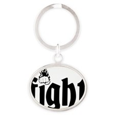 fight7 Oval Keychain
