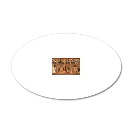 Weighing_of_the_Heart_no_bor 20x12 Oval Wall Decal