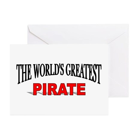"""The World's Greatest Pirate"" Greeting Cards (Pack"