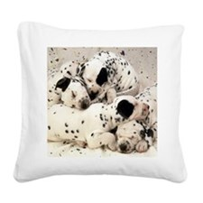 Dalmation mousepad Square Canvas Pillow